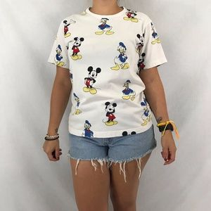 Tops - Mickey Mouse & Donald Duck Tee